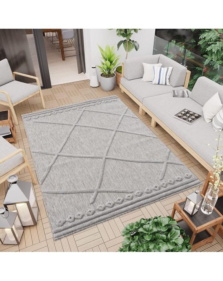 Lauko kilimas Santorini 58578 grey