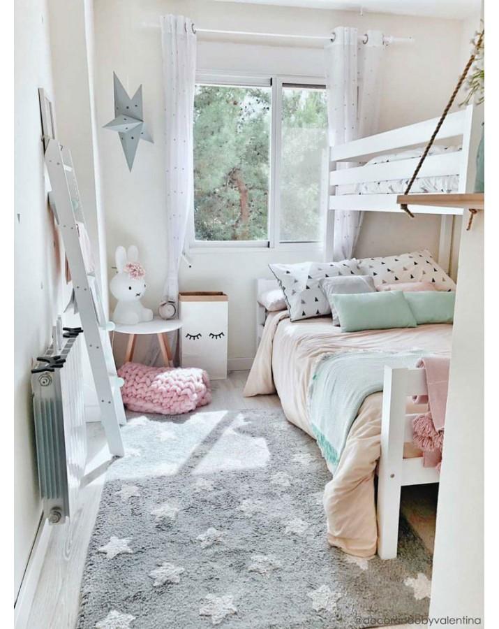 Pilkas skalbiamas kilimas Žvaigždutės