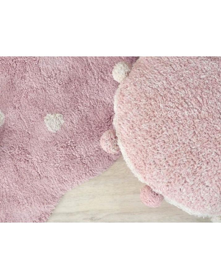 Rožinis skalbiamas kilimas Sausainiukas mini