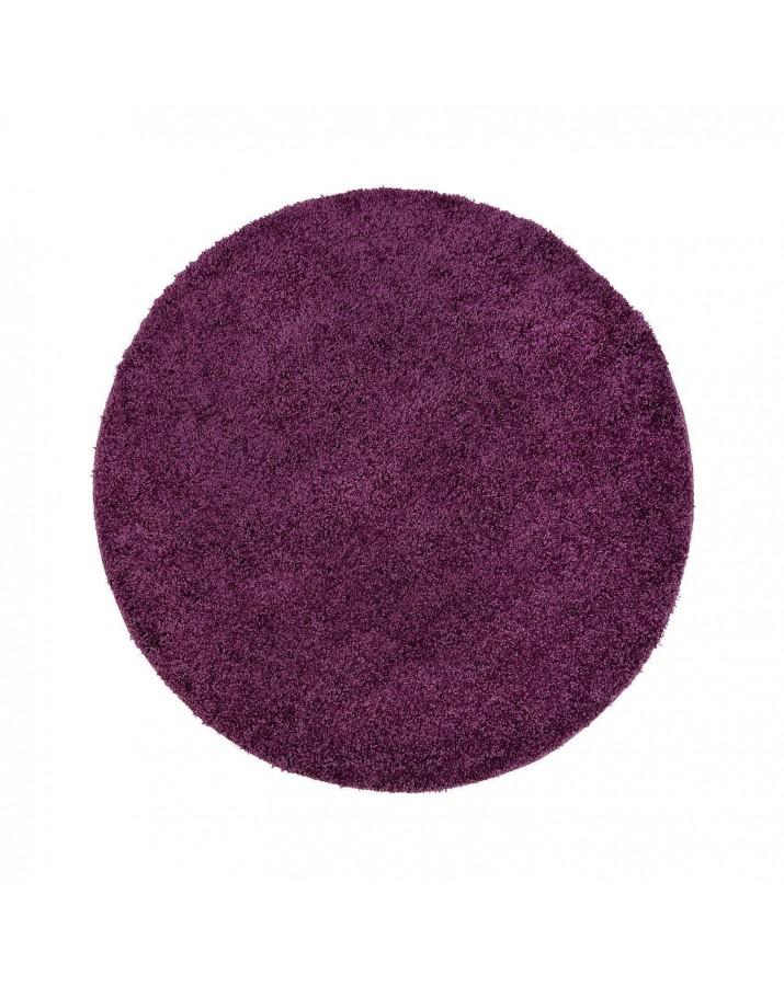 Švelnus violetinis kilimas Shaggy Uni