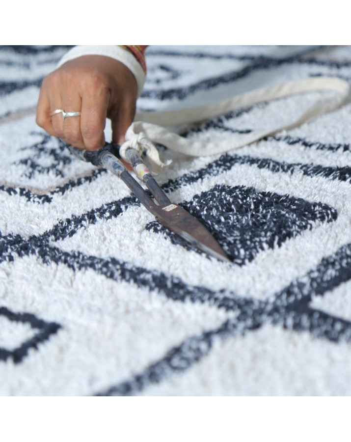 Šviesus skalbiamas kilimas Berber Ethnic