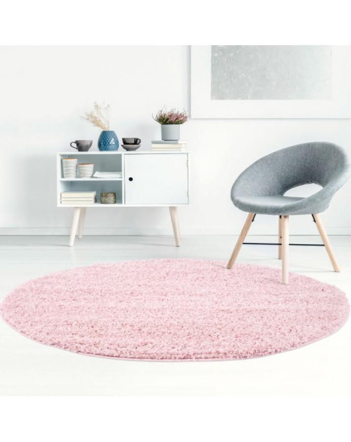 Švelnus rožinis kilimas Shaggy Uni