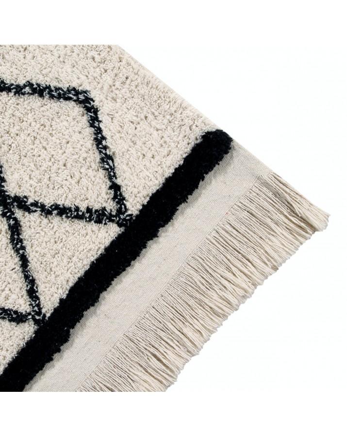 Šviesus skalbiamas kilimas Bereber Crisscross