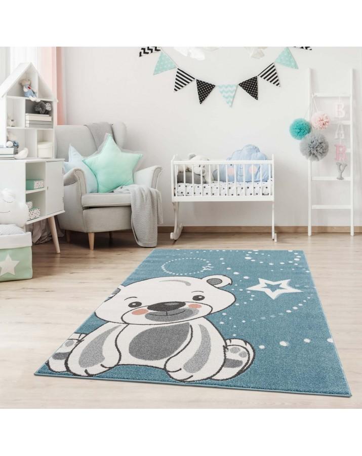 Vaikiškas kilimas su meškučiu