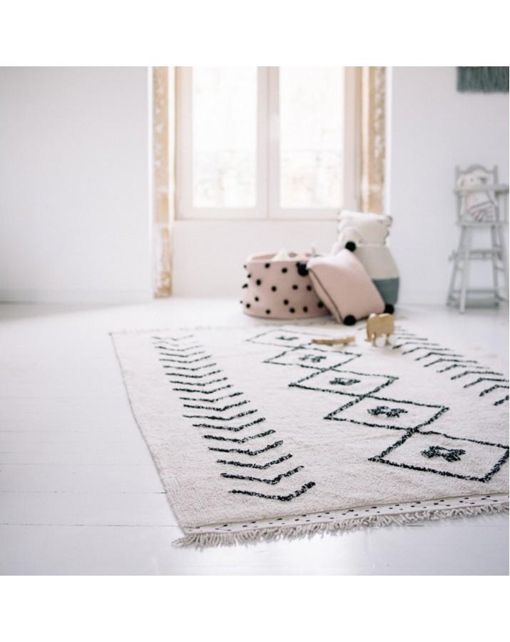 Šviesus skalbiamas kilimas Bereber