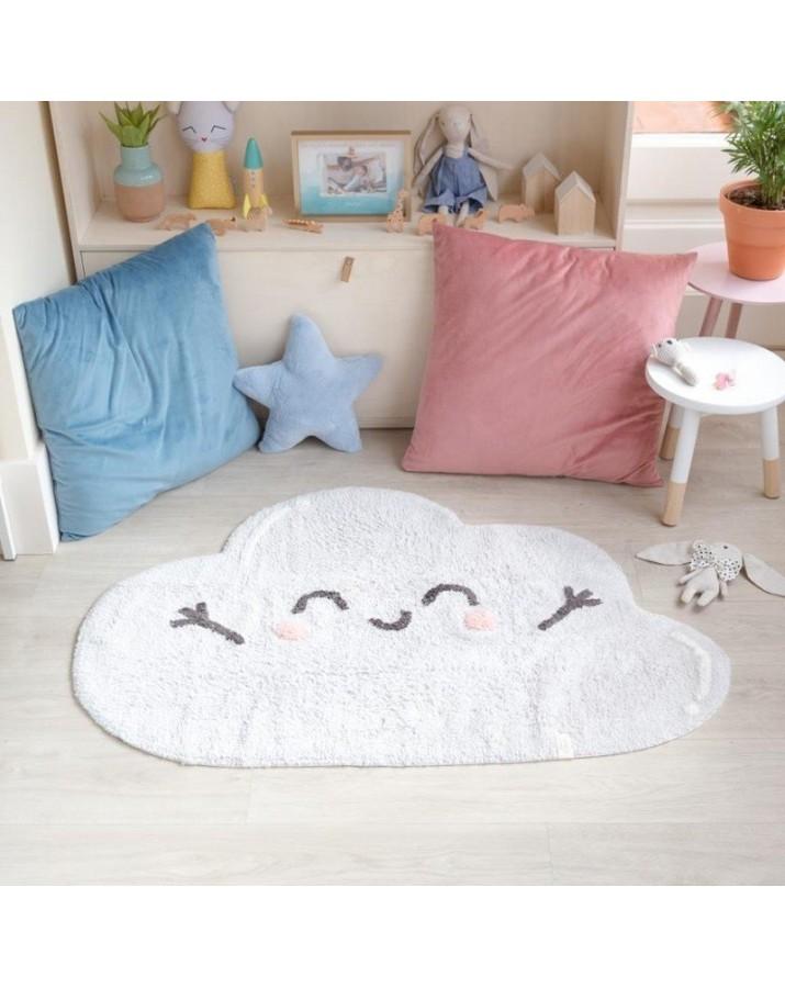 Skalbiamas vaikiškas kilimas Debesėlis
