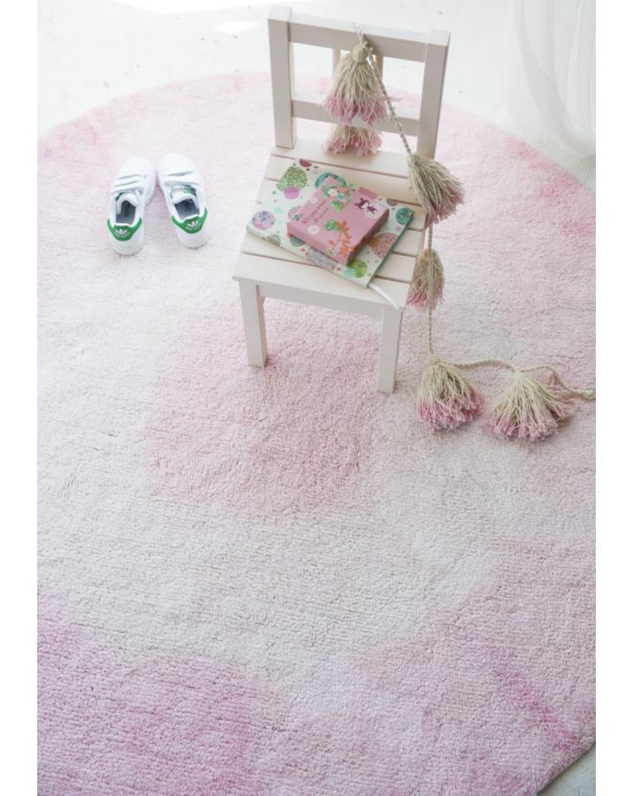 """Rožinis skalbiamas kilimas """"Tie-dye"""""""