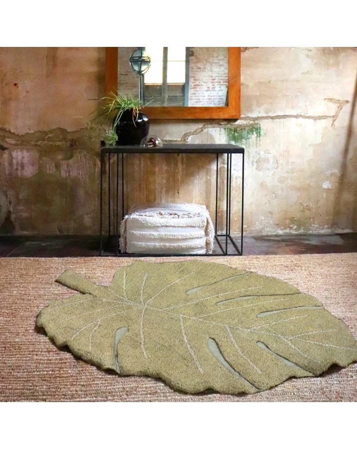 Lapo formos žalsvas skalbiamas kilimas