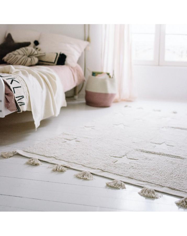 Smėlio spalvos skalbiamas kilimas Hippy Stars