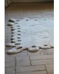 Smėlio spalvos skalbiamas kilimas LaceKilimai