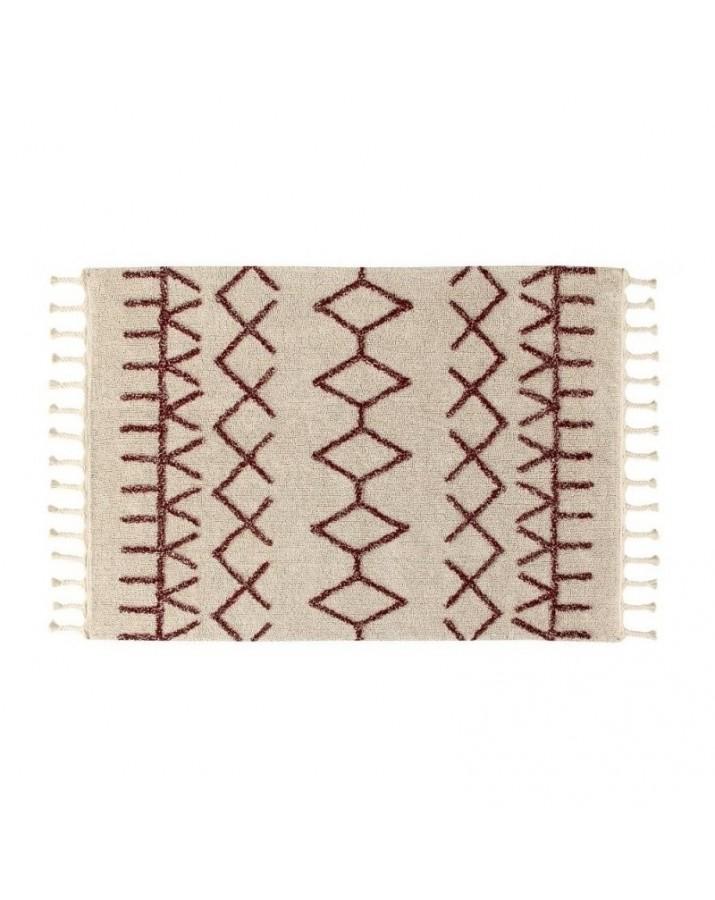 Burgundiško stiliaus skalbiamas kilimas Bereber