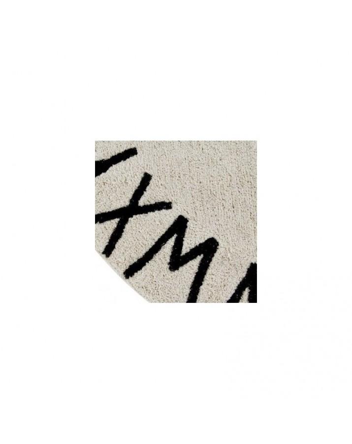 Smėlio spalvos skalbiamas kilimas ABC