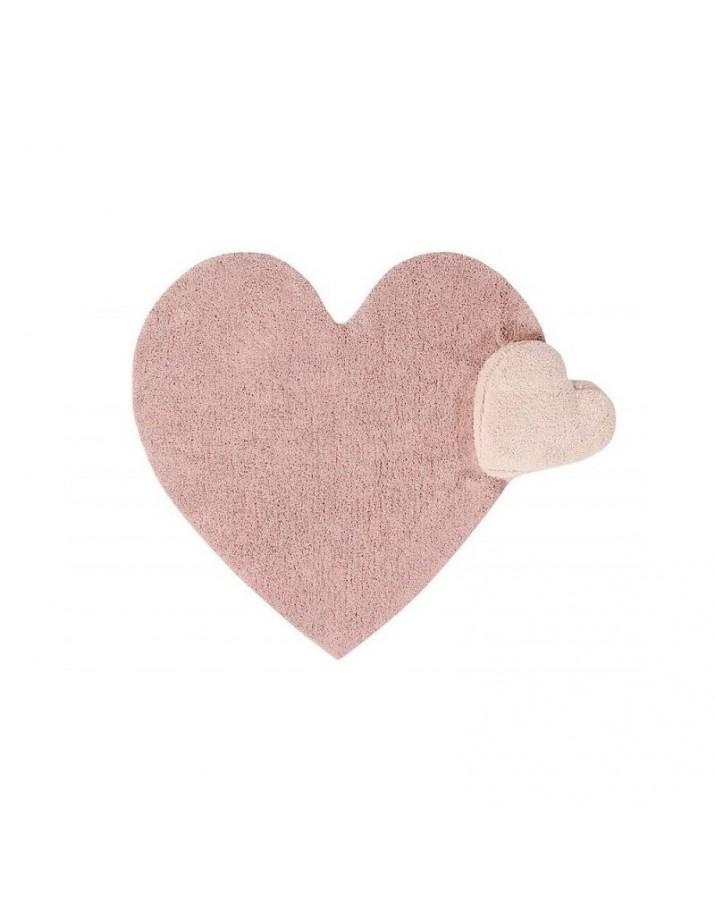 Skalbiamas širdelės formos kilimas