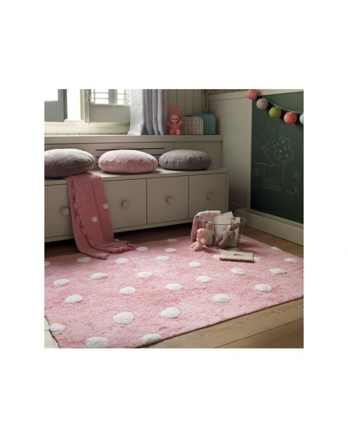 Rožinis skalbiamas kilimas Taškiukai