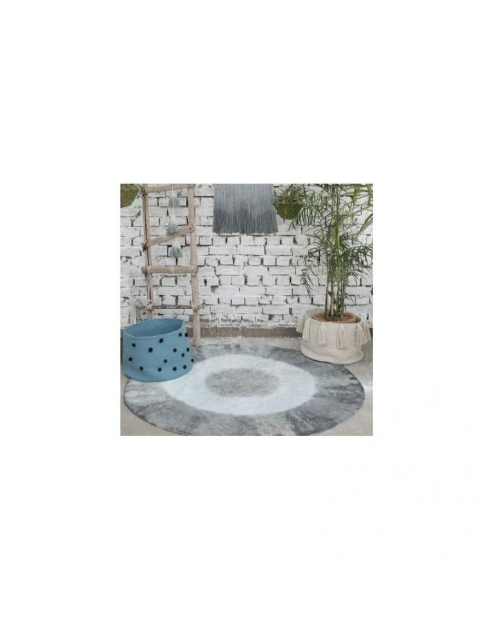 Vintažinis mėlynas skalbiamas kilimas