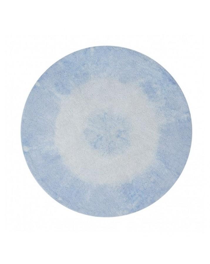 """Šviesiai mėlynas skalbiamas kilimas """"Tie-dye"""""""