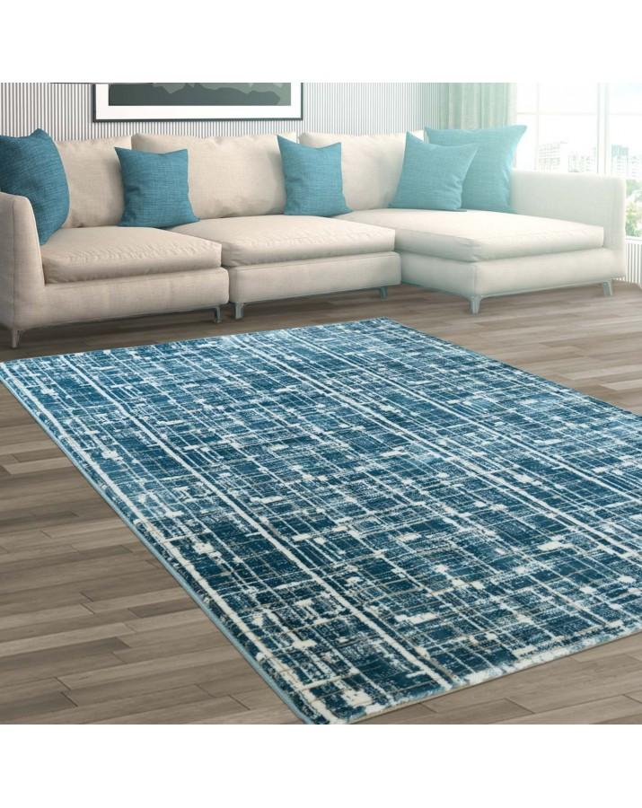 Modernus mėlynas kilimas