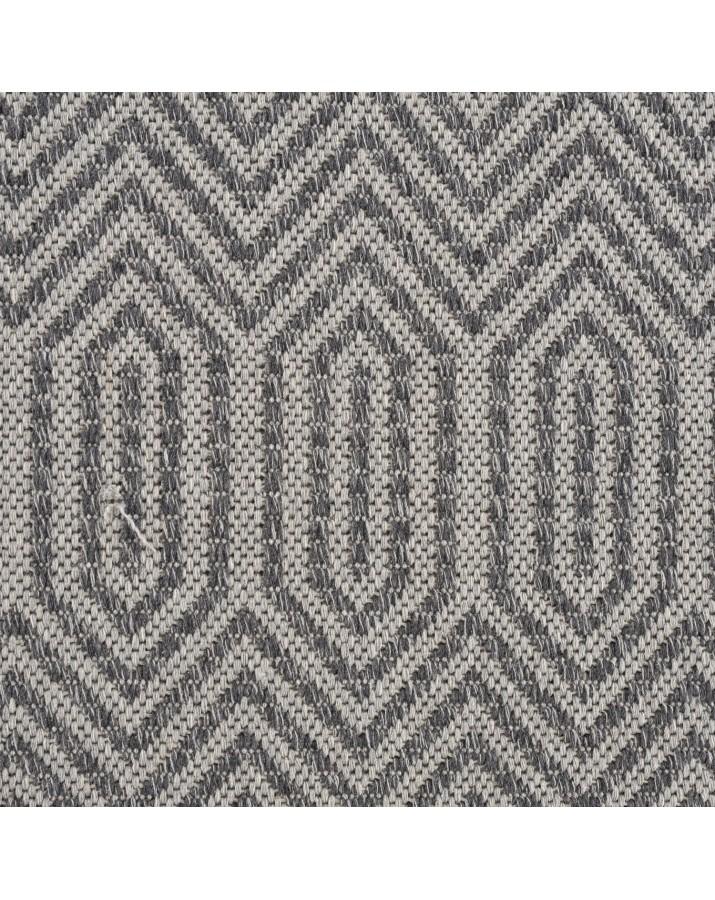 Medvilninis pilkas kilimas su raštais