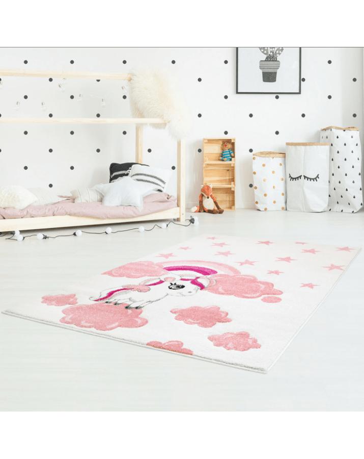 """Rožinis vaikiškas kilimas """"Ponis"""""""