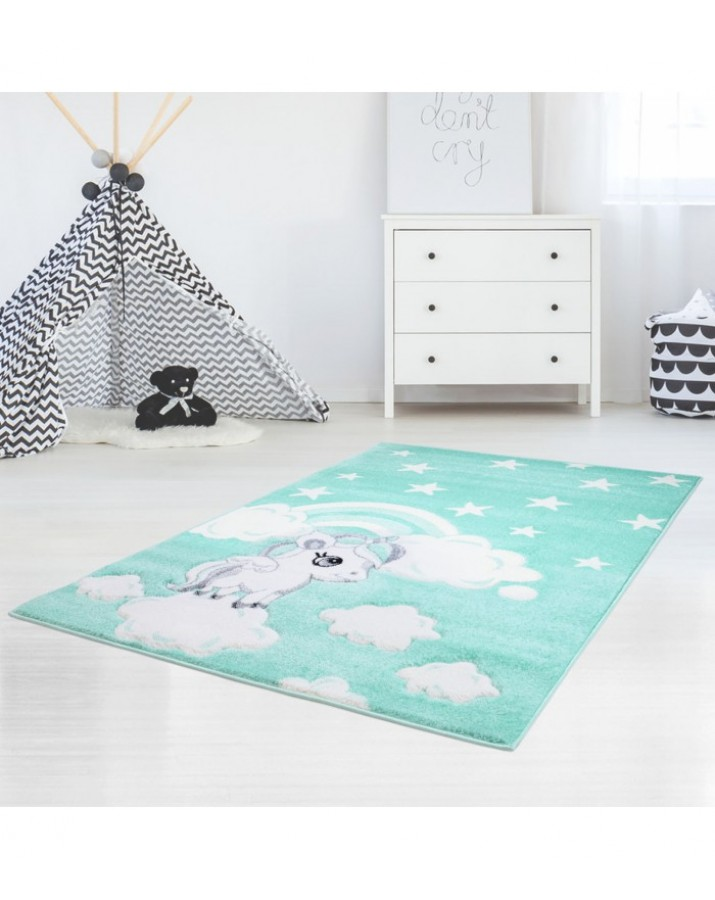 """Mėtinis vaikiškas kilimas """"Ponis"""""""