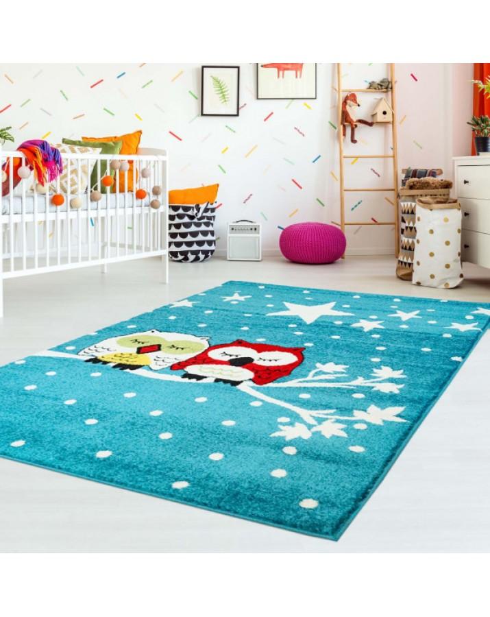 """Vaikiškas kilimas """"Miegančios pelėdos""""Vaikiški kilimai"""