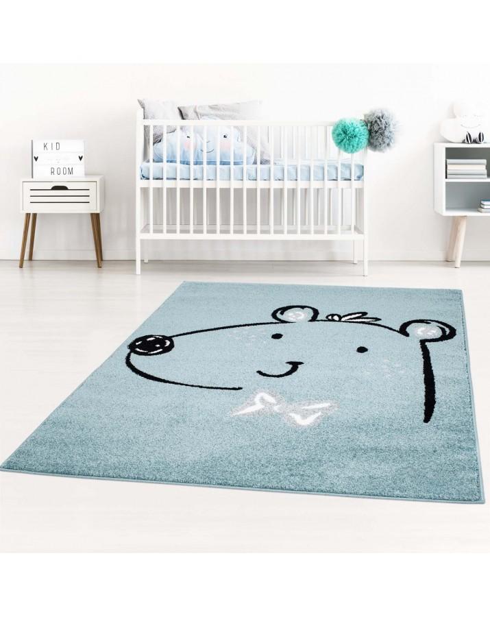 """Vaikiškas mėlynas kilimas """"Meškiukas"""""""