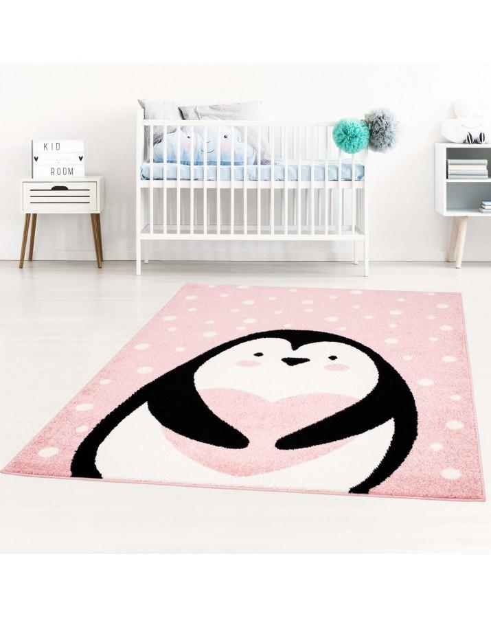 """Rožinis kilimas """"Pingvinukas"""""""