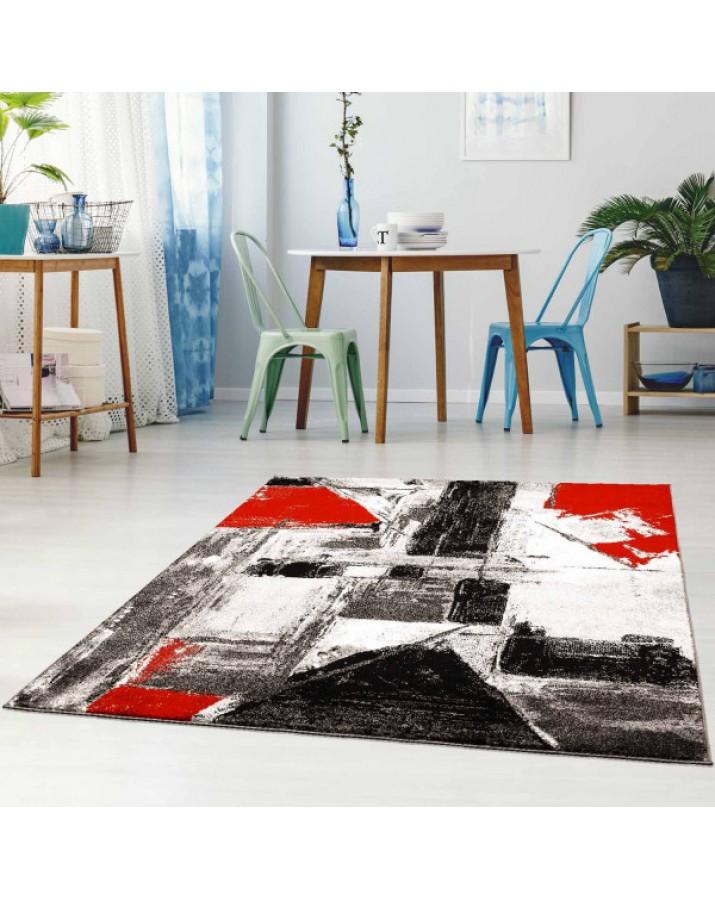 """Raudonų fragmentų kilimas - """"Moda Soft"""""""