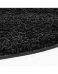 Švelnus juodas kilimas Shaggy UniKilimai