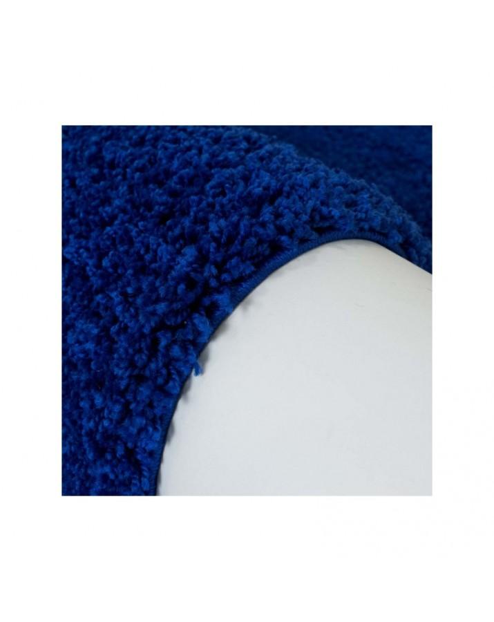 Švelnus mėlynas kilimas Shaggy Uni